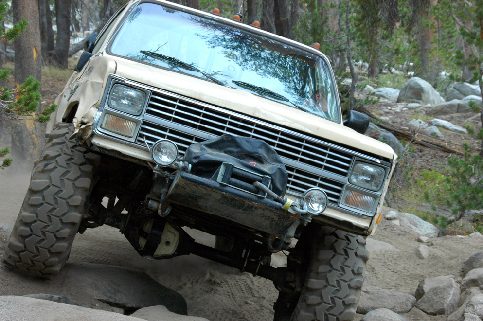 Taking a 1984 K30 through one of the tightest trails on the West Coast.